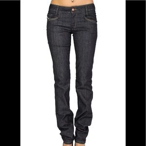 Diesel Newz Low Rise Straight Leg Jeans Dark awash